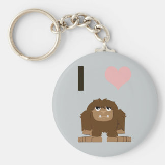 I heart bigfoot keychain