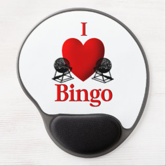 I Heart Bingo Gel Mouse Pad