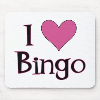 I Heart Bingo Mouse Pad