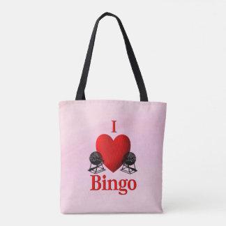 I Heart Bingo Pink Tote Bag