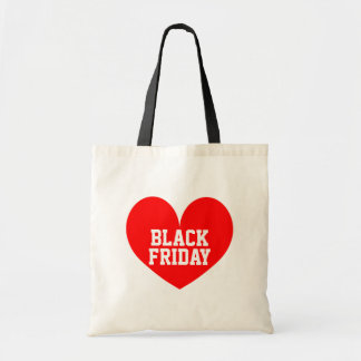 I heart Black Friday shopping tote bag