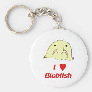 I heart blob keychain