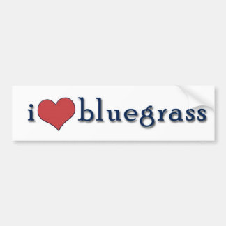 i heart bluegrass bumper sticker