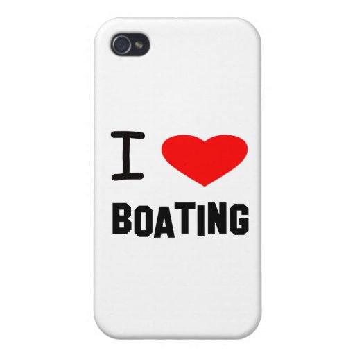 I Heart Boating iPhone 4 Covers