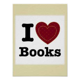 I Heart Books - I Love Books! (Double Heart) Posters