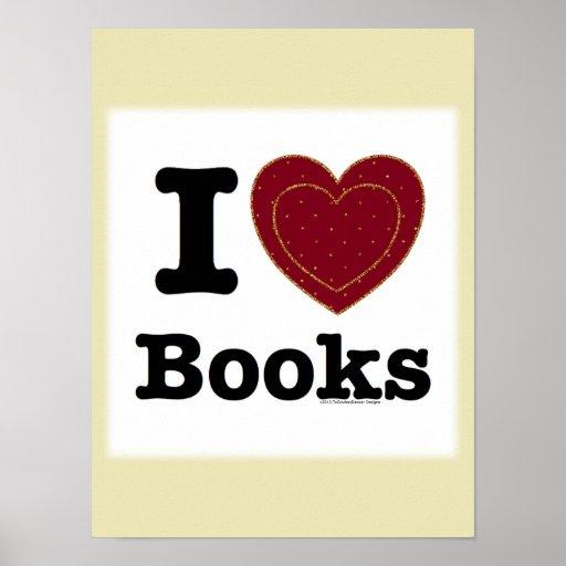 I Heart Books - I Love Books! (Double Heart) Posters