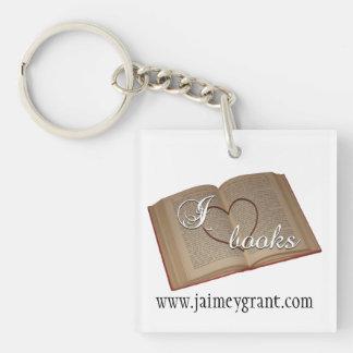 """I Heart Books"" Keychain"