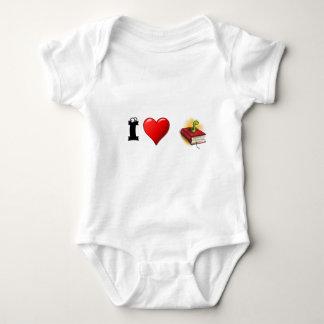 I heart Bookworms Baby Bodysuit