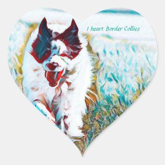 I heart Border Collies sticker