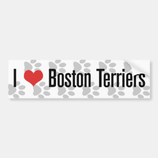 I (heart) Boston Terriers Bumper Sticker