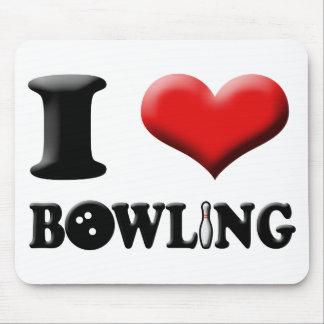 I Heart Bowling Mousepad
