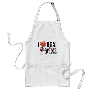 I Heart Box Wine1 Standard Apron