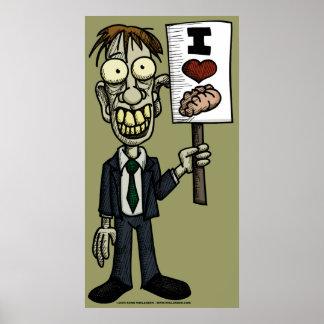 I Heart Brains Poster