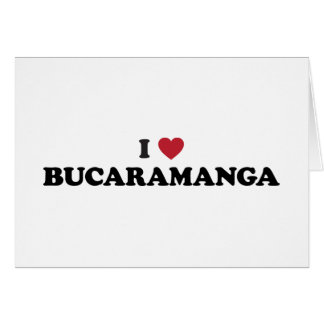 I Heart Bucaramanga Colombia Card