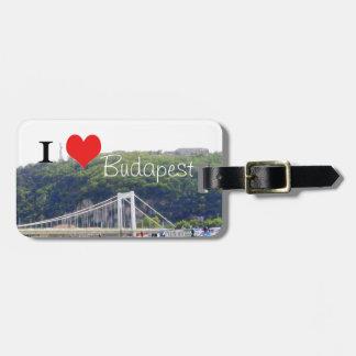 I heart Budapest Luggage Tag