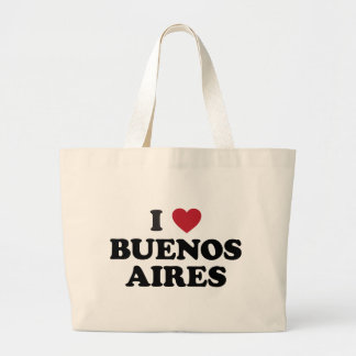 I Heart Buenos Aires Argentina Large Tote Bag