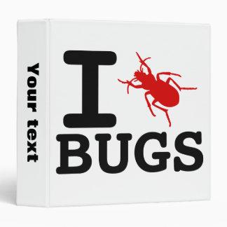 I heart Bugs Vinyl Binder