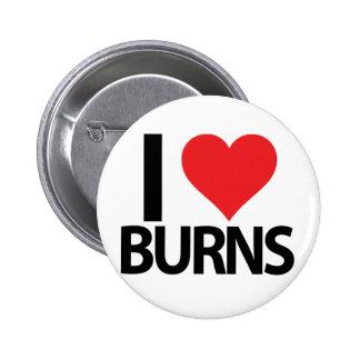 I Heart Burns 2 Inch Round Button