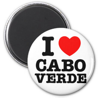 I Heart Cabo Verde 2 Inch Round Magnet