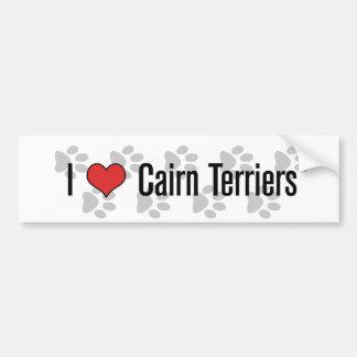 I (heart) Cairn Terriers Bumper Sticker
