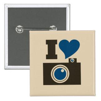 I Heart Camera Pinback Button