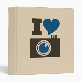 I Heart Camera Vinyl Binders