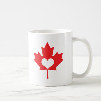 I Heart Canada Maple Leaf Coffee Mug