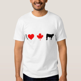 I heart Canadian beef T-shirts