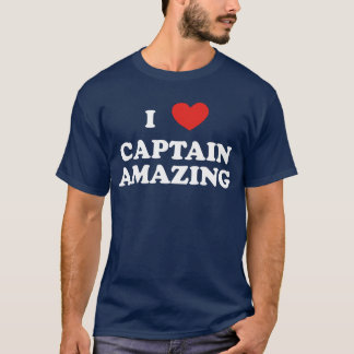 I (heart) Captain Amazing Dark Tshirt