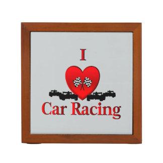 I Heart Car Racing Desk Organizer