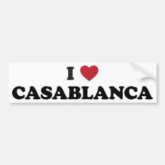 I Heart Casablanca Morocco Bumper Sticker
