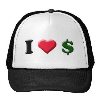 I Heart Cash Trucker Hat