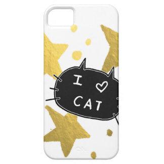 I Heart CAT Gold Stars iPhone 5 Case