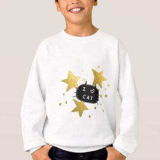 I Heart CAT Gold Stars Sweatshirt