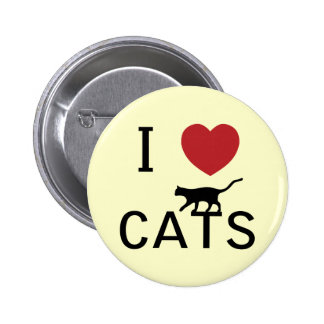 i heart cats 2 inch round button