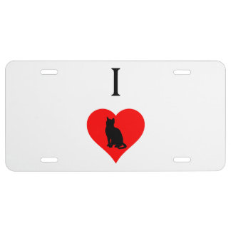 I Heart Cats License Plate