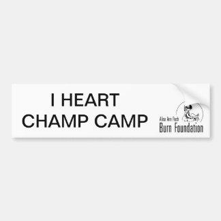 I HEART CHAMP CAMP Bumpersticker Bumper Sticker