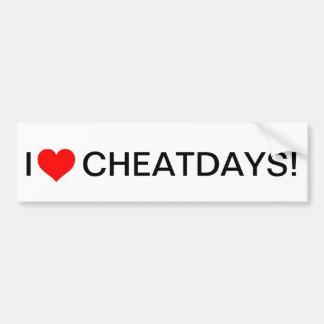 I heart cheatdays bumpersticker bumper sticker