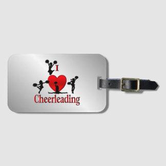 I Heart Cheer Leading Bag Tag