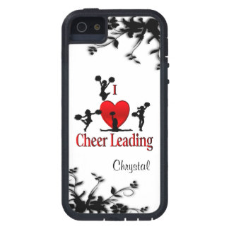 I Heart Cheer Leading Personalized iPhone 5 Case