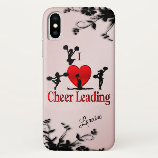 I Heart Cheer Leading Personalized iPhone X Case