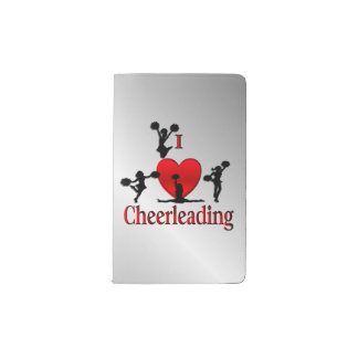 I Heart Cheer Leading Pocket Moleskine Notebook