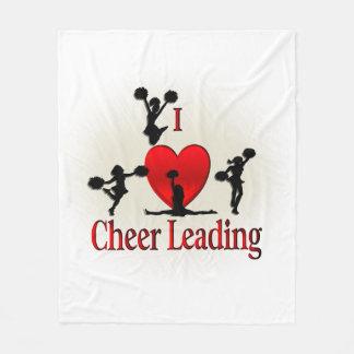 I Heart Cheerleading Fleece Blanket