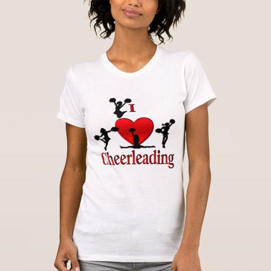 I Heart Cheerleading T Shirt