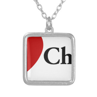 I Heart Cheese Silver Plated Necklace