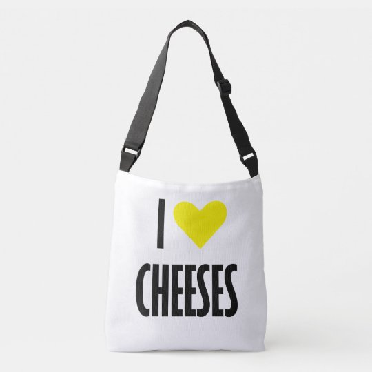 I heart cheeses Cross Body Bag