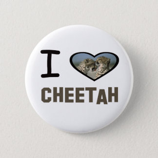 I Heart Cheetah 2 Inch Round Button