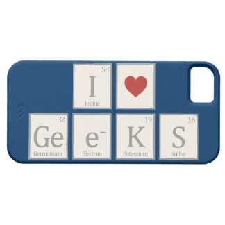 I Heart (Chemistry) Geeks iPhone 5 Cases