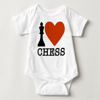 I Heart Chess Baby Bodysuit