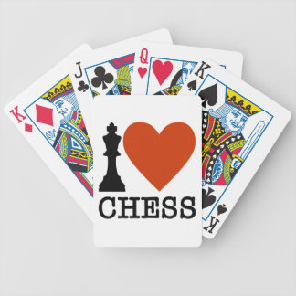 I Heart Chess Bicycle Playing Cards